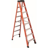 "Louisville Davidson Ladders 8 ft Fiberglass IAA Step Ladder - 7 Step - 375 lb Load Capacity - 96"" -  DADFS1408HD"