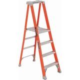 """Louisville Davidson Ladders 4' Fibrglss Platform Step Ladder - 4 Step - 300 lb Load Capacity - 48"""" - DADFXP1704"""