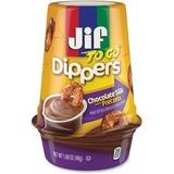 Jif To Go Pretzels/Chocolate Silk Dippers - Chocolate Peanut Butter - 1.69 oz - 8 / Carton FOL21019
