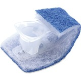 Scotch-Brite Disposable Toilet Scrubbers Refill - 10/Box - Blue, White MMM558RF