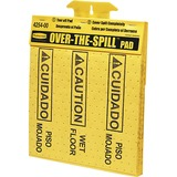 Rubbermaid Commercial Bilingual Over-The-Spill Pads - 300 / Carton - Caution Wet Floor, cuidado Piso RCP4254CT