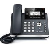 Yealink SIP-T42G IP Phone - Cable - Desktop, Wall Mountable - Dark Gray