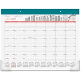 At-A-Glance Cityscape Paint the Town Desk Pad - Julian - Monthly - 1 Year - July till June - 1 Month AAGD1017704A