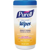 Purell Citrus Scent Hand Sanitizing Wipes - Citrus - White - Durable, Alcohol-free - For Hand - 40 S GOJ912206CMRCT
