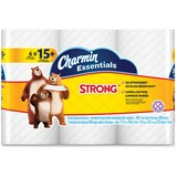 Charmin Ess. Strong Bath Tissue - 1 Ply - 300 Sheets/Roll - White - Paper - Wet Strength, Clog-free, PGC96892CT