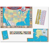 "Teacher Created Resources US Map Bulletin Board Display - United States - 36"" Width x 24"" Height TCR4403"