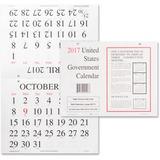 UCR5453759 - Unicor Fed Monthly Wall Calendar