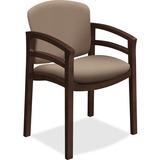 HON 2112 Mahogany Base Double Rail Guest Chair - Polymer Seat - Hardwood Frame - Four-legged Base -  HON2112MOCHCU24