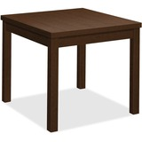 "HON Mocha Laminate Corner Table - 24"" x 20"" x 24"", Edge, 24"" x 24"" Work Surface, Top - Square Edge - HON80192MOMO"