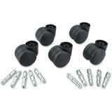 Master Nonhooded Futura Hard Caster Set - 120 lb per Wheel Load Capacity - Nylon - Matte Black MAS23619