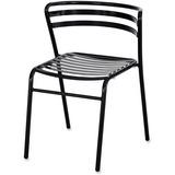 Safco Multipurpose Stacking Metal Chairs - Slate Seat - Slate Back - Tubular Steel Black Frame - Fou SAF4360BL