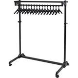 Alba Coat Rack w/Hangers, Anti-Theft, 17 Hangers, Black - 17 x Coat - Floor - Black ABAPMRAK17AT