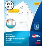 Avery Tab Divider - 8 Tab(s) - 3 Hole Punched - 20 / Pack AVE14441