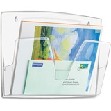 "CEP Wall File - 3 Pocket(s) - 10.6"" Height x 14.2"" Width x 3.4"" Depth - Wall Mountable - Ice Blue -  CEP1001700111"