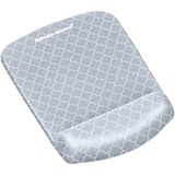 Fellowes PlushTouch Mouse Pad - Diamond - Black, White - Foam - Wear Resistant, Tear Resistant FEL9549701