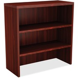 """Lorell Chateau Storage Cabinet - 36"""" x 15"""" x 36.5"""", Top - 2 Shelve(s) - Reeded Edge - Finish: Mahoga LLR34351"""