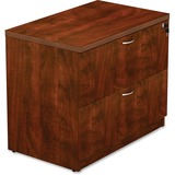"""Lorell Lateral File - Top, 66"""" x 15"""" x 37"""" - Reeded Edge - Finish: Cherry Laminate Top LLR34370"""