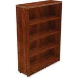 "Lorell Chateau Bookshelf - Top, 36"" x 12.5"" x 50"" - 4 Shelve(s) - Reeded Edge - Finish: Cherry Lamin LLR34372"