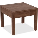 """Lorell Corner Table - Square Top - 24"""" Table Top Width x 24"""" Table Top Depth x 1"""" Table Top Thicknes LLR61626"""