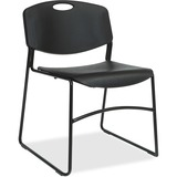 LLR62528 - Lorell Heavy-duty Bistro Stack Chairs - 4...