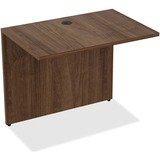 "Lorell Bridge - 34"" x 24"" x 29.5"" Desk, Edge - Material: Polyvinyl Chloride (PVC) Edge - Finish: Wal LLR69539"