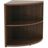 "Lorell Book Rack - 23.6"" Height x 29.5"" Width - Floor - Walnut - Laminate, Polyvinyl Chloride (PVC) LLR69617"