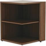 "Lorell Book Rack - 23.6"" Height x 29.5"" Width - Floor - Walnut - Laminate, Polyvinyl Chloride (PVC) LLR69618"