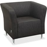 "Lorell Fuze Lounger Chair - Four-legged Base - Brown - 28.3"" Width x 32.5"" Depth x 29.5"" Height LLR86910"