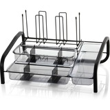 """OIC Multi Breakroom Organizer - 9 Compartment(s) - 6 Divider(s) - 10.6"""" Height x 18.3"""" Width x 14"""" D OIC28002"""