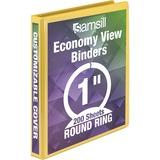 "SAM18531 - Samsill Economy 1"" Round-Ring View Binder"