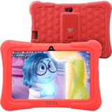 """Tablet Express Dragon Touch Y88X Plus Kids 7"""" Tablet Disney Edition, Kidoz Pre-Installed, Android 5.1, Red "" - 2017 Disney Edition - Quad Core CPU - Android 5.1 Lollipop - IPS Display - Kidoz Pre-Installed with Bonus Disney Content (more than $60 Value) - Games App and Audio Book - New Silicone Bumper with Adjustable Stands-Red"