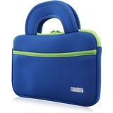 """Tablet Express TabSuit 7"""" Ultra-Portable Neoprene Zipper Carry Sleeve Case Bag in Blue - Fits Y88X and M7 Kids Tablet and KingPad K77 Tablet - With Accessory Pocket in Blue"""
