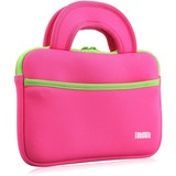 """Tablet Express TabSuit 7"""" Ultra-Portable Neoprene Zipper Carry Sleeve Case Bag in Pink - Fits Y88X and M7 Kids Tablet and KingPad K77 Tablet - With Accessory Pocket in Pink"""