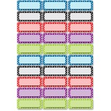 ASH10079 - Ashley Dry Erase Dotted Nameplate Magnets