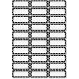 ASH10080 - Ashley Dry Erase Black/White Dots Namepl...