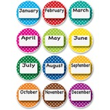 ASH10095 - Ashley Dotted Border Months Die-cut Magnets