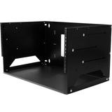 "StarTech.com 4U Open Frame Wall Mount Network Rack w/ Built in Shelf - 2-Post Adjustable Depth (12"" to 18"") Equipment Rack - 75.2lbs (WALLSHELF4U)"