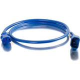 C2G 3ft 14AWG Power Cord (IEC320C14 to IEC320C13) - Blue