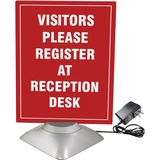 """Artistic 8.5"""" x 11"""" Motorized Two-Sided Rotating Sign Holder Ad Frame, Clear/Silver"""
