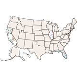 RYLR52027 - Roylco USA Map Collage Board