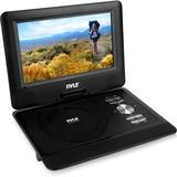 """Pyle PDV101BK Portable DVD Player - 10.1"""" Display - 1024 x 600 - DVD-R, CD-RW - JPEG - DVD Video, MPEG-4, Video CD, VOB, EVD - 16:9 - CD-DA, MP3, WMA - 1 x Headphone Port(s) - USB - Lithium Polymer (Li-Polymer)"""