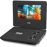 """Pyle PDV91BK Portable DVD Player - 9"""" Display - 800 x 480 - Black - DVD-R, CD-RW - JPEG - DVD Video, MPEG-4, Video CD, VOB, EVD - 16:9 - CD-DA, MP3, WMA - 1 x Headphone Port(s) - USB - Lithium Polymer (Li-Polymer)"""