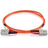 2m SC-SC 50/125 OM2 Duplex Multimode PVC Fiber Optic Cable - Orange