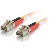 2m LC-LC 50/125 OM2 Duplex Multimode PVC Fiber Optic Cable - Orange