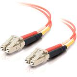 4m LC-LC 50/125 OM2 Duplex Multimode PVC Fiber Optic Cable - Orange