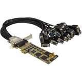 StarTech.com 16 Port PCI Express Serial Card - Low-Profile - High-Speed PCIe Serial Card with 16 DB9 RS232 Ports