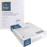 BSN20068BX - Business Source Buff Stock Ring Binder Index...