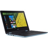 """Acer Spin SP111-31-C1Q6 11.6"""" Touchscreen LCD Notebook - Intel Celeron N3350 Dual-core (2 Core) 1.10 GHz - 4 GB DDR3L SDRAM - 64 GB Flash Memory - Windows 10 Home 64-bit - 1920 x 1080 - In-plane Switching (IPS) Technology - Turquoise Blue"""