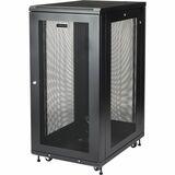 """StarTech.com 24U 19"""" Server Rack Cabinet - 4 Post Adjustable Depth 2-30"""" Mobile Locking Vented IT/Data Network Enclosure w/Casters & Shelf"""