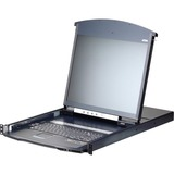 Aten KL1108VN Cat 5 Dual Rail LCD KVM Over IP Switch With a Rack Mount Kit
